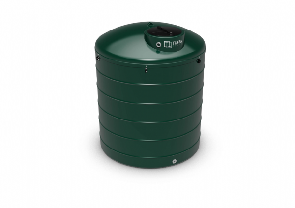 3500  Litre Circular Heating Oil Tank - Plastic Bunded